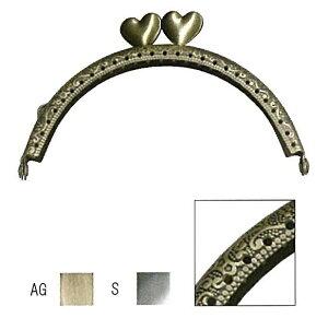 小物口金 ハート型 1本入 型紙付 6cm×10.5cm INAZUMA イナズマ 持ち手 持ち 手[BK-1087]