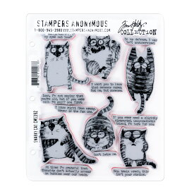 Stampers Anonymous クリングマウントスタンプ [スナーキーキャット] / Cling Mount Stamp Tim Holtz Snarky Cat