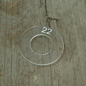22mm用 くるみボタンアクリルテンプレート