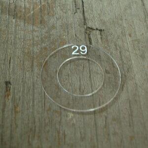 29mm用 くるみボタンアクリルテンプレート