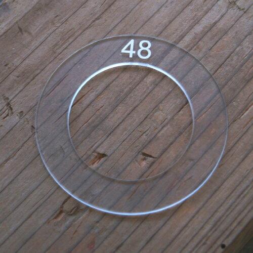 くるみボタンアクリルテンプレート - 48mm