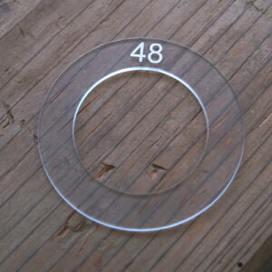 48mm用 くるみボタンアクリルテンプレート