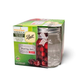 ボールメイソンジャー レギュラーマウス コレクションエリート シェアリング 480ml 4個入 / Ball Mason Jar Collection Elite Sharing Wide Mouth 16oz 4pc