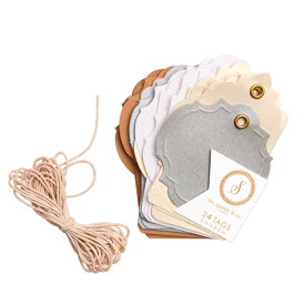 DCWV ナチュラルタグ 紐付き 24枚入 / ms.sparkle & co Neutral Tags with string 24pc
