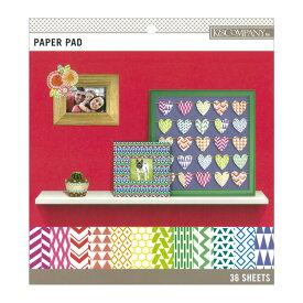 K&Company ペーパーパッド [ブライトカラーベーシック スモール] 36枚綴り / K&Company Brights Color Basics Small Paoer Pad 8.5 x 8.5inch 36sheets