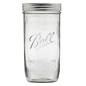 ボールメイソンジャー ワイドマウス 710ml / Ball Mason Jar Pint & Half Wide Mouth 24oz