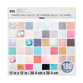"""Recollections ペーパーパッド [ヴィンテージ ベーシック] 180枚綴り / Recollections Paper Pad Vintage Basics 12"""" × 12"""" 180sheets"""