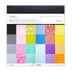 "Pebbles ペーパーパッド [ベーシック] 180枚綴り / Pebbles Paper Pad Basics 12"" × 12"" 180sheets"