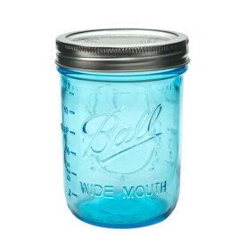 ボールメイソンジャー ワイドマウス コレクションエリート ブルー 480ml / Ball Mason Jar Collection Elite Blue Wide Mouth 16oz