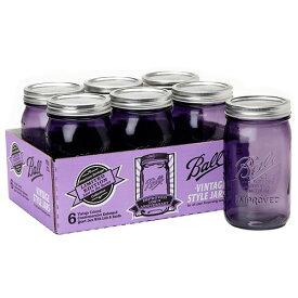 [SUPER PRICE] ボールメイソンジャー ワイドマウス ヘリテージコレクション パープル 940ml 6個入 / Ball Mason Jar Heritage Collection Purple Wide Mouth 32oz 6pc