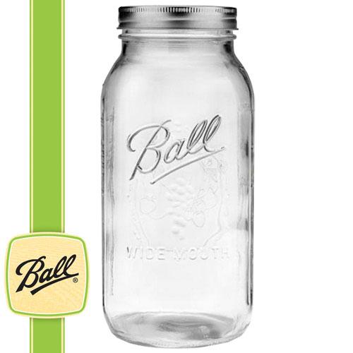 ボールメイソンジャー正規品 ワイドマウス 2000ml / Ball Mason Jar Wide Mouth Half Gallon