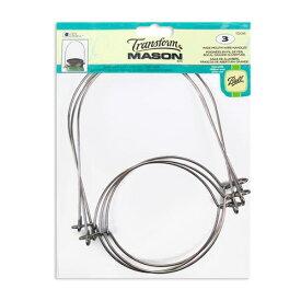 Loew-Cornell ワイヤーハンドル BALLメイソンジャーワイドマウス用 3個入 Mason Jar Wire Handles for Wide Mouth 3pcs