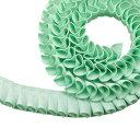 """グログラン [プリーツ] リボン 2cm幅 ミントグリーン 3m / Grosgrain [Pleated] Ribbon Width 3/4"""" Mint Green 3m"""