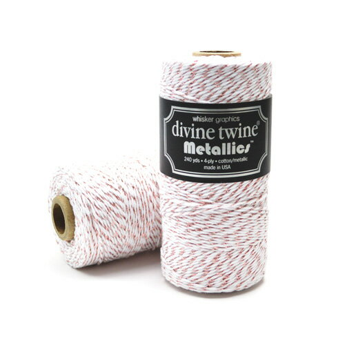 Whisker Graphics Divine Twine シングルスプール [ローズゴールドメタリック] 約219m / Bakers Twine Single Spools Rose Gold Metallic 240 yds
