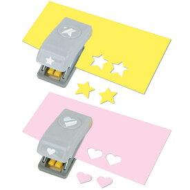 EKサクセス クラフトパンチカッター ミニ [ハート&スター]/ EK Punch Mini 2pc Heart and Star