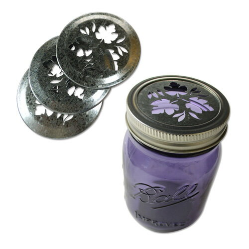 Loew-Cornell リーフ フタ Ball メイソンジャーレギュラーマウス用 4個入 Mason Jar Leaf Lid Inserts for Regular Mouth 4pcs