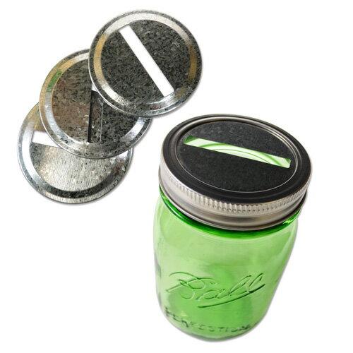 Loew-Cornell スロット フタ BALLメイソンジャーレギュラーマウス用 4個入 Mason Jar Slotted Lid Inserts for Regular Mouth 4pcs
