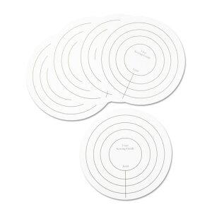 48mmくるみボタン用 ロゼット製作ガイド 2~4レイヤー 10枚入