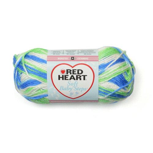 RED HEART ヤーン アクリル毛糸 約113g(約187m) [パピープリント] / soft baby steps yarn 4oz Puppy print