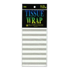 "Papier de soie 薄葉紙・包装紙 [シルバーライン] 50.8x50.8cm 4枚 Cindus Tissue Paper Silver Line 20""x20"""