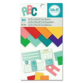 We R Memory Keepers ペーパーパッド [ベーシック] 約7.6 × 12.7cm ( 3×5 inch ) 80枚綴り / Paper Pad 3 × 5 Basics 80pc