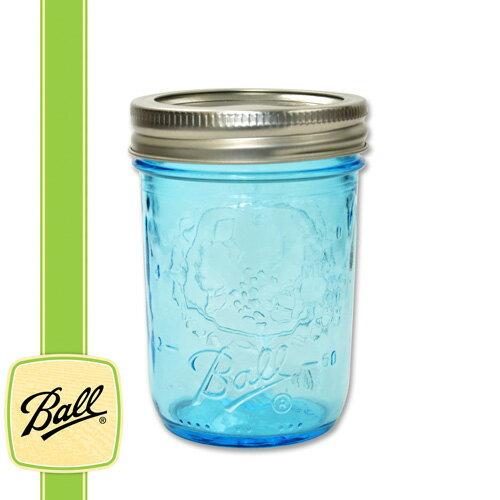 ボールメイソンジャー正規品 レギュラーマウス 240ml ブルー / Ball Mason Jar Regular Mouth Blue 8oz