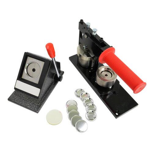 プロ仕様缶バッジ製作キット [ジュニア] 32mm (標準ダブルフックピン型パーツセット)