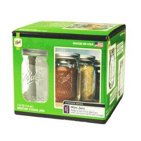 ボールメイソンジャー ミニジャー 118ml 4個入 / Ball Mason Jar Mini jar 4oz 4pc
