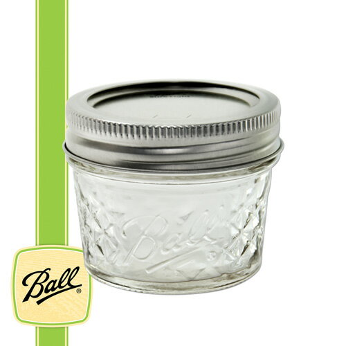 ボールメイソンジャー 正規品 メイソンクリスタルジャー ゼリー レギュラーマウス 118ml / Ball Mason Jar Quilted Jelly 4oz