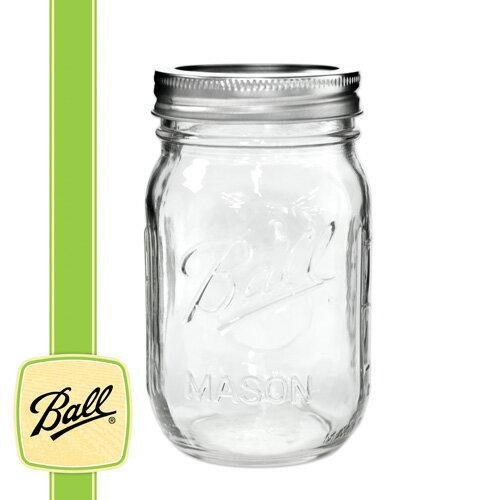 ボールメイソンジャー正規品 レギュラーマウス 480ml / Ball Mason Jar Regular Mouth 16oz