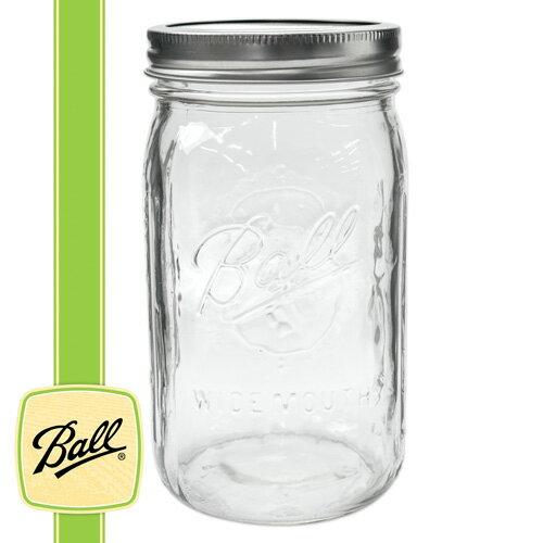 ボールメイソンジャー正規品 ワイドマウス 940ml / Ball Mason Jar Wide Mouth Ball 32oz