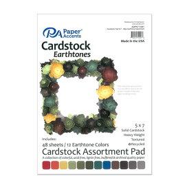 "Paper Accent カードストック ペーパーパッド 約12.7×17.9cm [アーストーンアソート] 48枚綴り / Cardstock Pad 5""x 7"" Earthtone Assortment 48pc"