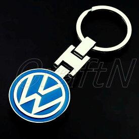 VW (フォルクスワーゲン) ロゴキーホルダー キーリング 両面デザイン