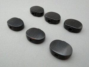GOTOH(ゴトー)用・オーバルタイプ水牛の角素材ノブ(ペグボタン) 標準サイズ・6個セット