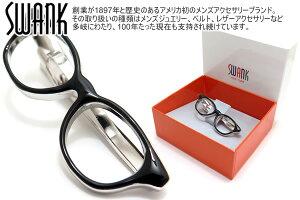 SWANK スワンク GLASSES TIE BAR メガネタイバー(ブラック)【ネクタイピン タイクリップ タイドメ】【ブランド】