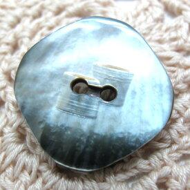 【訳あり】厚みのある黒蝶貝の中央にアクセントのカッティングをしたシンプルボタン 釦(1JA) CPB-068 20mm