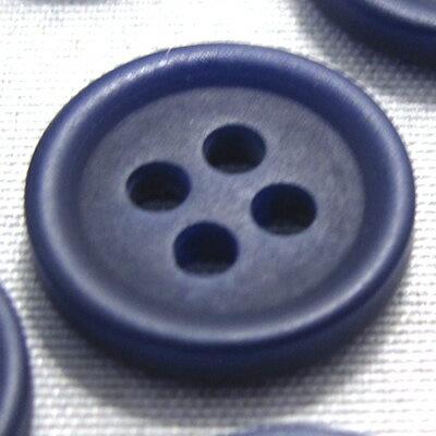 【40個入り】つや消し四つ穴カラーボタン 釦(青/緑系) CPB-20000 13mm