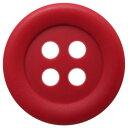 【30個入り】つや消し四つ穴カラーボタン ふち広めタイプ 釦(赤/黄色系) CPB-20009 15mm【日本製】