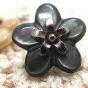 かわいい花の形の貝ボタン 釦 P-703 20mm