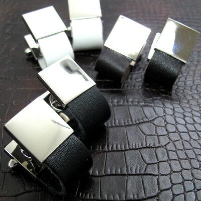 VALUE3500 【選べる3色】Leather wrap レザー巻カフス 【カフスボタン カフリンクス】【メール便不可】