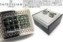【2019AWモデル】TATEOSSIAN タテオシアン CRYSTAL SW LATTICE BLACK DIAMOND CUFFLINKS クリスタル スワロフスキー…