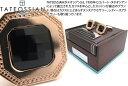 TATEOSSIAN タテオシアン SILVER CHECKERBOARD PRECIOUS 2 MICRON ROSE GOLD & BLACK SPINEL...