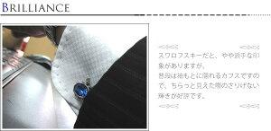 【選べる24色】カフスボタンスワロフスキークリスタル