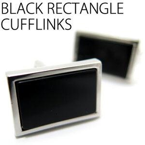 VALUE3500BLACKRECTANGLECUFFLINKSブラックレクタングルカフス【カフスボタンカフリンクス】10P05Sep15