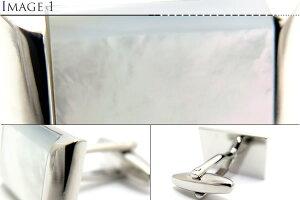 VALUE3500TRAPEZOIDALMOPCUFFLINKSトラペゾイダル白蝶貝カフス【カフスボタンカフリンクス】【送料無料】