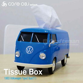 Tissue Box 1963 Volkswagen Type2 Bus(T1型) WELLY社製フォルクスワーゲンタイプ2バス ティッシュボックス coreOBJ select