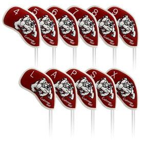 ★新作★CRAFTSMAN(クラフトマン)アイアンカバー用 ゴルフヘッドカバー合成レザーブルドッグシリーズ 11個セット