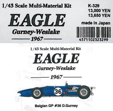 EAGLE Gu rney-Weslake -1967-【1/43 K-329Multi-Material kit】