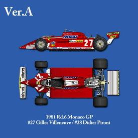 Ferrari 126CK【ver.A】 1981 Rd.6 Monaco GP【モデルファクトリーヒロ K529 1/12】