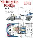 908/3 1971 Ver.D Nurburgring 1000km 1st Martini Racing No.3【MFH 1/43 k577】